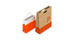 Stampa shopper in carta kraft